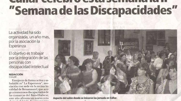 "Cúllar celebró esta semana la II ""Semana de las Dis-Capacidades"""
